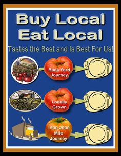 Buy local. Eat local. Tastes the best and is best for us!