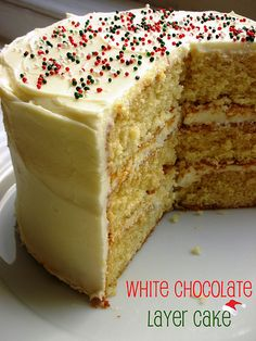 The Cake Slice: White Chocolate Layer Cake Chocolate Swiss Meringue Buttercream, Buttercream Filling, Tooth Cake, Cake Recipes, Dessert Recipes, Cake Chocolat, Pie Dessert, White Chocolate, Chocolate Cake