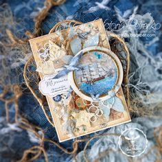 Морские открытки на первое причастие для мальчиков - коллекция BLUE SEA
