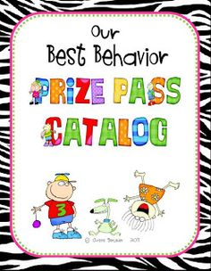No more prize box!  Prize Pass Catalog with zebra border!  {FREEBIE}