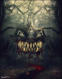 Hungry horror house by jamievalentina