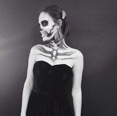 Atlanta de Cadenet was skin and bones in her ghoulish makeup.