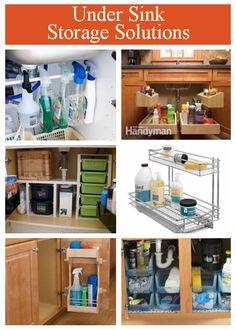 diy home sweet home: Under Sink Storage Solution. Under Kitchen Sink Organization, Under Sink Storage, Small Space Storage, Small Space Organization, Bathroom Storage, Kitchen Storage, Home Organization, Organizing Ideas, Organization Station