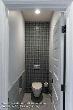 Contemporary Master Bathroom - Found on Zillow Digs. perfect for narrow commodes. Next Bathroom, Narrow Bathroom, Old Bathrooms, Small Bathroom Storage, Modern Bathrooms, Bathroom Ideas, Tiny Half Bath, Half Baths, Bathroom Designs India