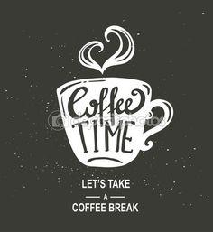 """""""Hora do café"""" Hipster Vintage letras — Ilustração de Stock #80700708"""