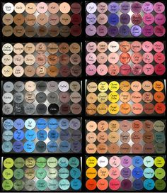 MAC eyeshadows organized