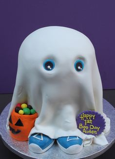 Baby BOO Cake ~ Halloween Birthday... adorable!