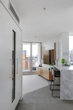 See how Dan Kitchens transformed this kitchen into a Luxurious Custom Kitchen in Kirribilli, complete with Exquisite Materials and High-end Appliances. Kitchen Room Design, Interior Design Kitchen, 1970s Kitchen, Apartment Projects, Luxury Kitchens, Table, Furniture, Home Decor, Design Ideas
