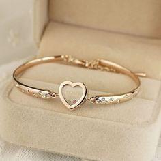 Romantic Plated Love&Heart Women's Fashion Bracelet - USD $25.95