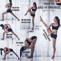 Bird of Paradise Yoga Pose #YogaPosesandStretches