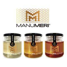 Manu Meri Honey on Packaging of the World - Creative Package Design Gallery Honey Packaging, Food Packaging Design, Bottle Packaging, Product Packaging, Honey Jar Labels, Honey Label, Jar Design, Label Design, Package Design
