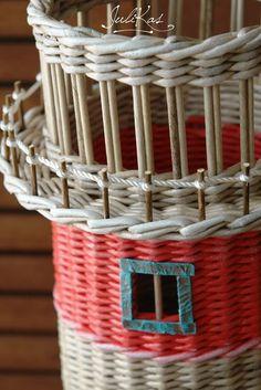 Yulia Kasianchuk's photos Mixed Media Tutorials, Paper Basket, Wicker, Weaving, Christmas, Home Decor, Newspaper Art, Bell Rock Lighthouse, Creativity