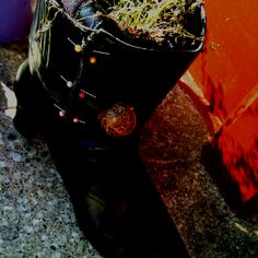 Old broken boot upcycled Upcycle, Crafty, Boots, Crotch Boots, Upcycling, Repurpose, Shoe Boot, Recycling