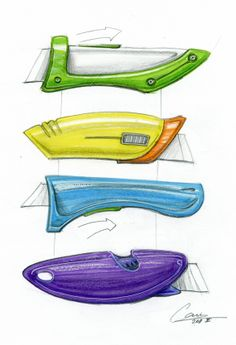 paper knife sketch, paper knife concept, paper knife drawing