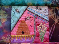 crazy quilt embroidered quilt block machine by loonlandlinens, $10.00