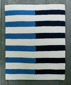 Knit-Shadow Stripe Baby Blanket