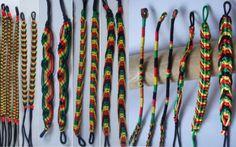 Rasta-Friendship-Bracelet-Surfer-Hippy-Boho-Wristband-Cotton-Silk-Reggae-Jamaica