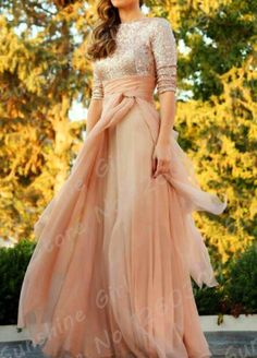 Sparkling Sequined Prom Dresses Sequined Ribbon Champagne Kaftan Dubai Abaya Muslim Evening Dresses 2015 New Chiffon Half Sleeve Party Gown.jpg (800×1113)