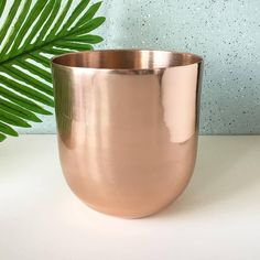 Rose golden plant pot | Height 15 cm, diameter 14 cm | A few scratches from previous use | €9,99 Potted Plants, Vintage Shops, Rose Gold, Create, Tableware, Etsy, Home Decor, Pot Plants, Dinnerware