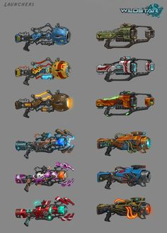 wildstar weapon concept art - Google Search