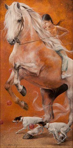 surrealistic painting by Chelin Sanjuan Piquero