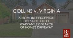 In Collins v. Virginia, the US Supreme Court considered whether the automobile exception to the warrant requirement applies to vehicle parked in a driveway. Criminal Law, Criminal Defense, Us Supreme Court, Fort Worth, Virginia, Hold On, Vehicle, Police, How To Apply
