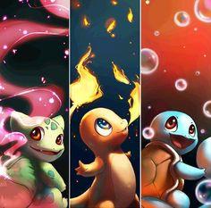 Pokémon: Bulbasaur, Charmander & Squirtle