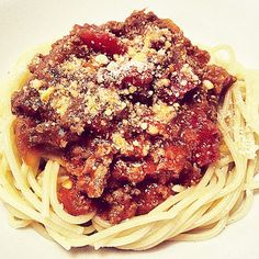 Venison Spaghetti - probably ate this AT LEAST 2x a month growing up. #PapaTheHunter