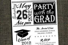 Unique Ideas For College Graduation Party Invitations Templates