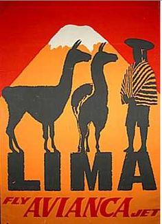 Vintage South America Travel Poster #SouthAmericaTravelPoster