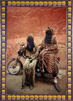 Hassan Hajjaj photographs Moroccan biker women in his debut New York exhibition 'Kesh Angels' on display at the Taymour Grahne Gallery through March Afro Punk Fashion, Pop Art Fashion, Tribal Fashion, Andy Warhol, Kitsch, Rock The Casbah, Lady Biker, Collage, Textiles