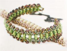 Starman TrendSetter Eileen Barker created this simple and elegant bracelet for the CzechMate Lentil beads