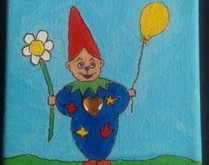 Original oil Painting CLOWN Funnyman with por ARTGALERYPAINTING