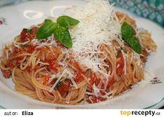 Rychlé špagety s tuňákem a rajčaty recept - TopRecepty.cz Spaghetti, Ethnic Recipes, Food, Meal, Essen, Hoods, Meals, Eten