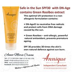 Sun protection with Rooibos Sun Protection, Dna, Beauty, Products, Sunscreen, Beauty Products