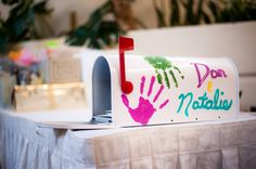 """Pixar """"Up"""" style mailbox for cards at the reception"""