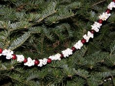 Image result for popcorn tree garland minimalist tree