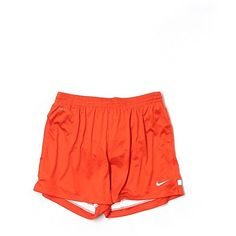 Pre-owned Nike Athletic Shorts Size 8: Orange Women's Activewear ($20) ❤ liked on Polyvore featuring activewear, activewear shorts, orange, nike activewear, nike sportswear and nike