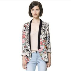 Newly Western Collection Printed Design Contrast Color Fashion Coat