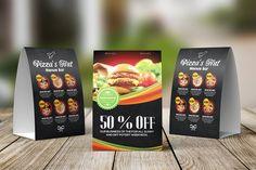 Resturant Food Menu Table Tent - Magazines