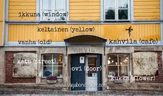 Just an hour by bus from Helsinki and you are in the incredibly pretty old town of Porvoo (Borgå in Swedish). Finnish Language, Helsinki, Day Trip, Old Town, To Go, Learning, Languages, Places, Outdoor Decor