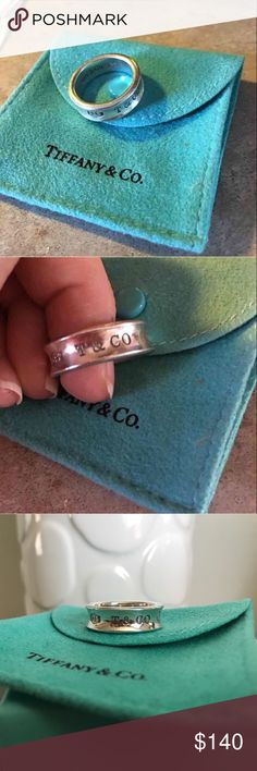 Authentic tiff & co ring. Sterling silver. Very small signs of wear. Size 7. Only selling because its too big for me :-( offers accepted Tiffany & Co. Jewelry Rings