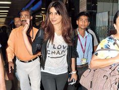 Priyanka Chopra loves to spell out her thoughts on her T-shirt and make style statements