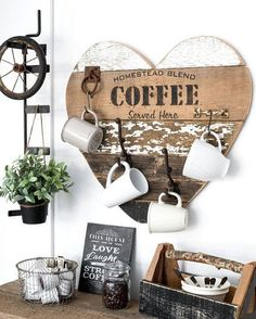 This coffee setup is so cute!!! : Pinterest