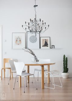 Beautiful dining room with Finnish classics
