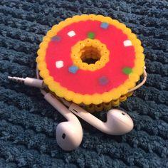 Perler bead donut headphone holder