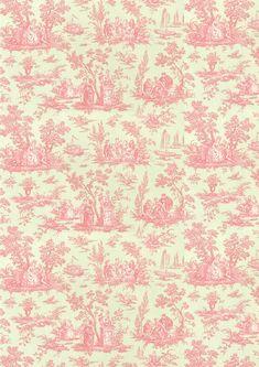 -wallpaper pink & cream