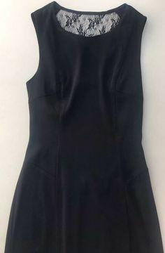 c36e4bb2fb7d French Connection black dress LACE Back panel SIZE: UK 12 #fashion  #clothing #