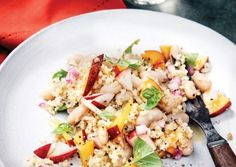White Bean Bulgur and Nectarine Salad