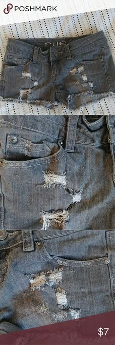 💸5 For $25 💸Shorts Distressed shorts Little pulls on the thighs where chains used to be. [Pictured] Size 0/1 Rue 21 Shorts Jean Shorts